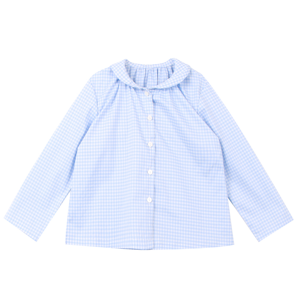 20 S/S Shirring shirt - blue (2차입고, 당일발송)